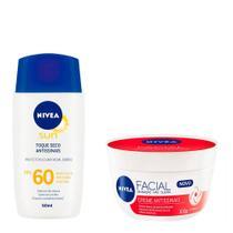 Nivea Cuidados Faciais Kit  Creme Antissinais + Protetor solar facial -