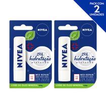 NIVEA Hidratante Labial Med Repair Reparação Intensiva 4,8 g  - 2 unidades -