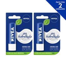 NIVEA Hidratante Labial Original Care Hidratação Profunda 4,8 g  - 2 unidades -