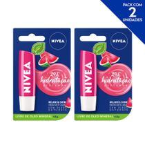 NIVEA Hidratante Labial Shine Melancia Hidratação Profunda 4,8 g  - 2 unidades -