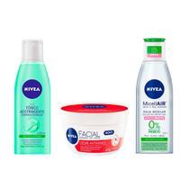 Nivea Limpeza Facial Kit  Tônico + Água Micelar + Creme Antissinais -