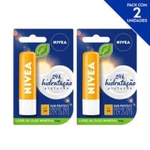 NIVEA Protetor Solar Hidratante Labial Sun Protect Alta Proteção FPS 30 4,8 g  - 2 unidades -
