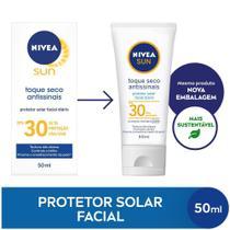 NIVEA SUN Protetor Solar Facial Toque Seco Antissinais FPS30 50ml -