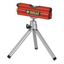 Nível a laser nl1 schulz com tripé regulável e 1 nível -