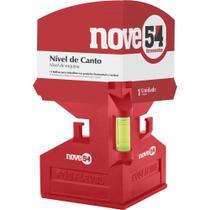 Nível de canto 125x80mm 3 bolhas base magnética - Nove54 -