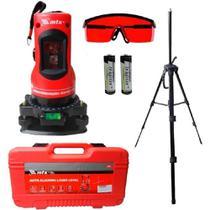 Nível e prumo laser giratório com tripé profissional mtx -