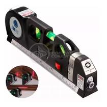 Nível Laser 8m Profissional de 3 linhas Trena 2,5m Level 3 Estágios Nivelador LV-03 - LUATEK -