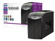 Nobreak interactive sms 27396 station ii 600va entrada 115v e saída 115v 4 tomadas -
