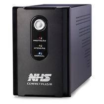 Nobreak NHS Compact Plus III 1200VA/600W Bivolt Preto (Saida 120V ou 220V/Selada 2 x 7Ah) -