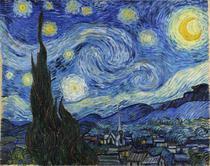 Noite Estrelada - Vincent van Gogh - Tela 30x38 Para Quadro - Santhatela