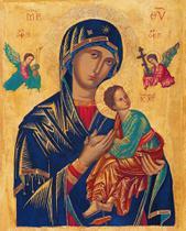 Nossa Senhora do Perpétuo Socorro - Obras de Arte - 50x62 - Tela Canvas Para Quadro - Santhatela