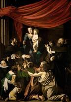Nossa Senhora do Rosário - Caravaggio - 30x43 - Tela Canvas Para Quadro - Santhatela