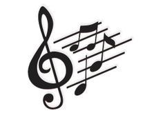 Notas Musicais 50x50cm Madeira MDF Aplique de Parede - Império Das Artes