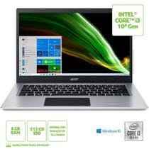 "Notebook Acer 14"" Hd A514-53-339s/ Nx.a4lal.002/ I3-1005g1/ 8gb/ 512gb Ssd/ W10 Home -"
