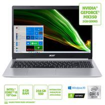 Notebook acer 15,6 fhd a515-55g-588g/ i5-1035g1/ 8gb/ 256gb ssd/ w10 home/ geforce mx3 -