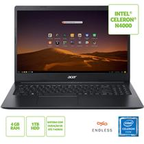 Notebook acer 15,6 hd led a315-34-c6zs/ celeron n4000/ 4gb/ 1tb/ linux -