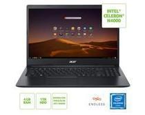 "Notebook ACER A315-34-C6ZS Celeron N4000 4GB 1TB 15,6"" Linux - NX.HRNAL.002 -"