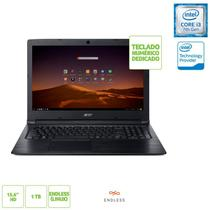 Notebook Acer A315-53-343Y Intel Core i3-7200U 4GB 1TB 15,6