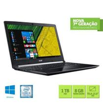 "Notebook Acer A515-51-51UX Intel Core i5-7200U 8GB RAM 1TB HD 15.6"" HD Windows 10"