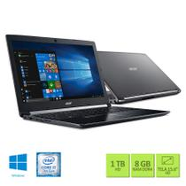 Notebook Acer A515-51-75RV Intel Core i7-7500U 8GB RAM HD 1TB 15.6