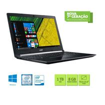 Notebook Acer A515-51G-58VH Core I5 7200U 8GB 1TB Placa de Vìdeo Geforce 2GB 940mx Win10 15.6 Preto