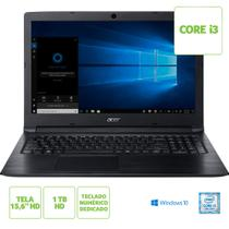 Notebook Acer Aspire 3 A315-53-333H Intel Core i3-7020U Memoria RAM de 4GB HD de 1TB Tela de 15.6