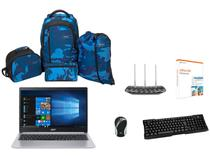 Notebook Acer Aspire 5 A515-54-587L + Mini Mouse  - Laser + Teclado + Roteador + Mochilas + Office 365