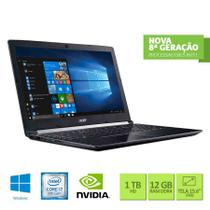 Notebook Acer Aspire A515-51G-C1CW Intel Core i7 8º Ger 12GB 1TB GeForce MX130  2GB 15.6