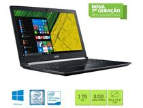 Notebook ACER INTEL A515-51G-58VH Core I5 7200U 8GB 1TB WIN10 15.6 LED NXGQDAL004