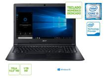 Notebook acer nxhfmal002 a315-53-333h i3 7020u 4gb 1tb win10 15.6 hd preto