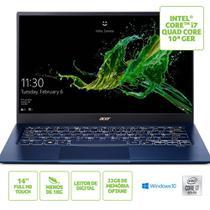 "Notebook Acer Swift 5 SF514-54T-71LF Intel Core i7 10º geração RAM de 8GB + 32GB Optane SSD de 1TB Tela de 14"" Full HD Touch Screen Windows 10 -"