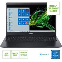 Notebook Acer Windows 10 15,6 Polegadas 500GB 4GB RAM Intel Celeron -