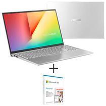 Notebook Asus VivoBook 15, i7 1065G7, 16GB, 512GB SSD, Prata Metalico - X512JP-EJ228T+Microsoft 365 Personal - QQ2-00481 -