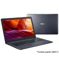 """Notebook Asus VivoBook, Intel  Core  i3 7020U, 4GB, 256GB, Tela 15,60"""", HD graphics 620, Cinza Escuro - X543UA-DM3459T -"""