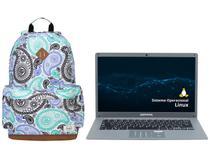 "Notebook Compaq Presario CQ-27 Intel Core i3 4GB - 240GB SSD 14,1"" Linux + Mochila Targus"