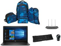 Notebook Dell i15-3583-FS1P Intel Core i5 8GB  - 256GB SSD + Mouse + Teclado + Roteador + Mochilas