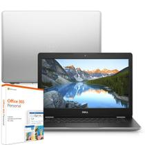 "Notebook Dell Inspiron i14-3481-M30SF 8ª Geração Intel Core i3 4GB 1TB 14"" Windows 10 Microsoft 365 Prata McAfee -"