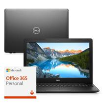 "Notebook Dell Inspiron i15-3583-M2XF 8ª Ger. Intel Core i5 4GB 1TB 15.6"" Windows 10 Microsoft 365 Preto McAfee -"