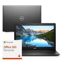 Notebook Dell Inspiron i15-3583-M3XF 8ª Geração Intel Core i5 8GB 1TB 15.6 Windows 10 Microsoft 365 Preto McAfee -