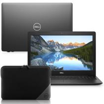 "Notebook Dell Inspiron i15-3583-M3XN Core i5 8GB 1TB Windows 10 Preto 15.6"" + Capa Essential para Notebook 15.6"" -"