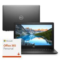Notebook Dell Inspiron i15-3583-M5XF 8ª Geração Intel Core i7 8GB 2TB 15.6 Windows 10 Office 365 Preto McAfee -