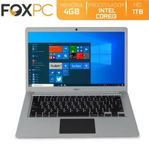Notebook FoxPC Intel Core i3 4GB HD 1TB Tela 14