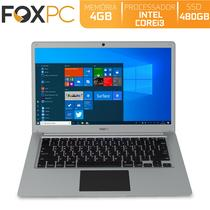 Notebook FoxPC Intel Core i3 4GB SSD 480GB Tela 14