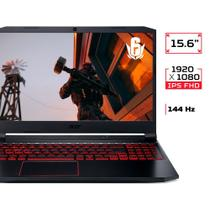 Notebook Gamer Acer Nitro 5 AMD Ryzen 5 4600H, NVIDIA GeForce GTX 1650, 8GB RAM, SSD 512GB, 15.6, Windows 10, Preto - AN515-44-R54Q -