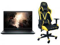 Notebook Gamer Dell G3-3500-A40P Intel Core i7  - 16GB RTX 2060 6GB + Cadeira Gamer Preta/Amarela