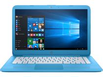 Notebook HP INTEL CELERON N3060 4GB 32 GB eMMC 14'' polegadas windows 10 azul claro