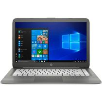 Notebook HP Intel Celeron N3060 RAM 4GB eMMC 64GB Windows 10 Tela 14 14-cb012dx Cinza
