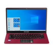 Notebook Intel Atom 2GB RAM 64GB Multilaser Legacy Cloud PC135 Windows 10 Home Vermelho -