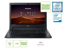 Notebook INTEL com Teclado Numerico ACER NXHFMAL001 A315-53-343Y I3 7020U 4GB 1TB Linux 15.6 HD Preto -