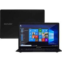 Notebook Legacy Cloud Quad Core Windows 10 Intel Atom Memoria 64GB (Interna 32GB+Micro Sd 32GB) e Memoria RAM 2GB Preto Multilaser - PC107